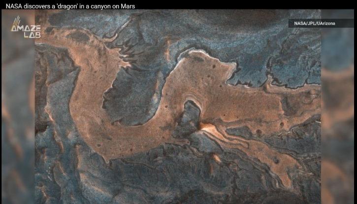 (나사가 화성협곡에서 발견한 동양의 용 이미지 영상).JPG